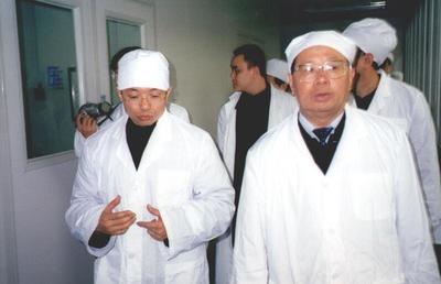 原重庆市市委书记黄镇东视察华森