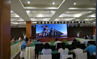 观阅兵、扬国威、助管理——钱钜娱乐组织观看中国人民解放军建军90周年阅兵式
